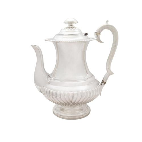 Antique William IV Sterling Silver Coffee Pot 1833 (1 of 9)
