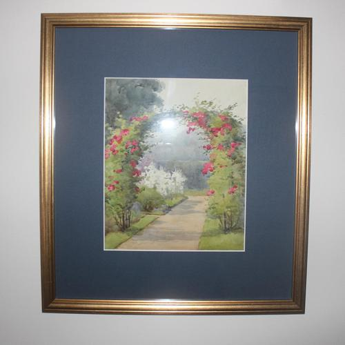 Antique Original Watercolour - Rose Arch - Mary Sophia Godlee '1860-1932' (1 of 5)