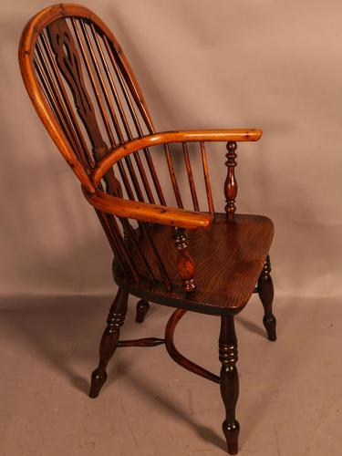 Good Yew Wood High Back Windsor Chair Rockley Maker (1 of 11)