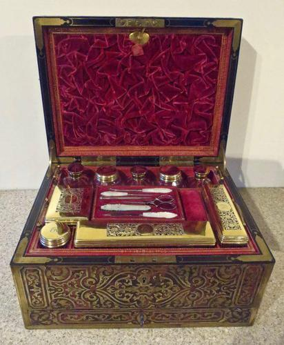 Boulle Inlaid Silver-Gilt Ladies Dressing & Jewellery Case (1 of 7)