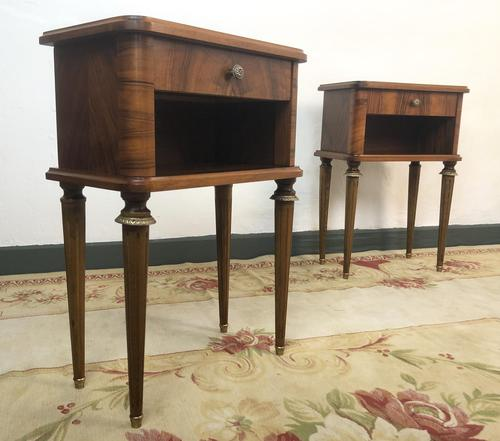 Vintage French Mahogany Cabinets Bedside Tables (1 of 14)