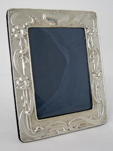 Stylish Chester Silver Art Nouveau Style Photo Frame (1 of 7)