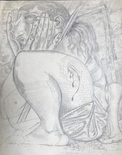 Original Pencil Drawing 'The Warrior' by James Gorman - Signed c.1955 (1 of 1)