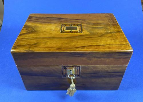 Victorian Olive Wood Jewellery Box (1 of 10)