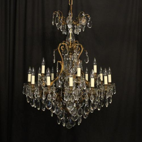 French Gilded Bronze 17 Light Antique Chandelier (1 of 10)