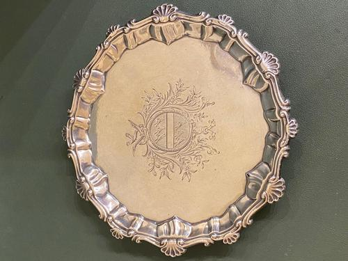 Mid-18th Century Solid Silver Salver / Card Tray (1 of 5)