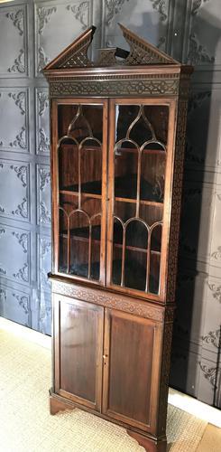 Edwardian Mahogany Corner Cabinet (1 of 9)