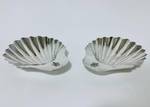 Pair of 18th Century Solid Silver Butter Dishes (1 of 13)