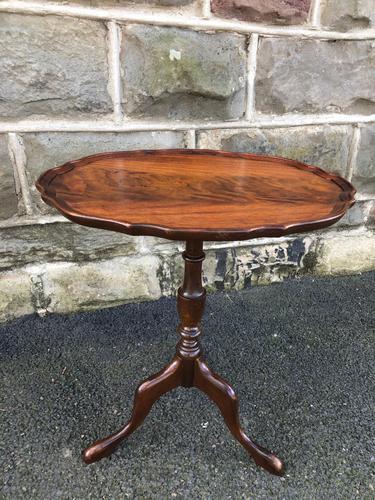 Antique Mahogany Tripod Wine Table (1 of 4)