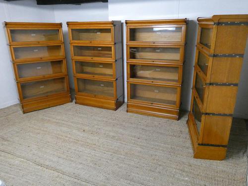 Set of Four Oak Globe Wernicke Bookcases (1 of 11)