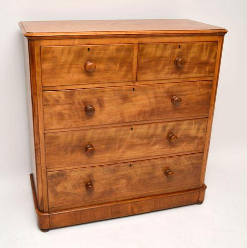 Large Antique Victorian Satinwood Chest of Drawers (1 of 16)