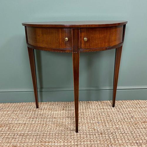 Elegant Demi Lune Tambour Front Antique Side Table (1 of 6)