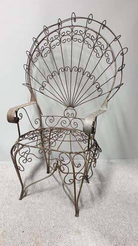 Superb Wrought Iron Peacock Chair by 'salterini' (1 of 7)