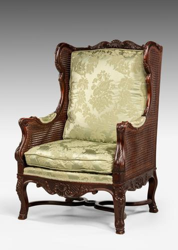 Early 20th Century Mahogany Framed Bergere Chair (1 of 4)