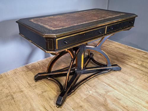 19th Century Art & Crafts Library Table (1 of 12)