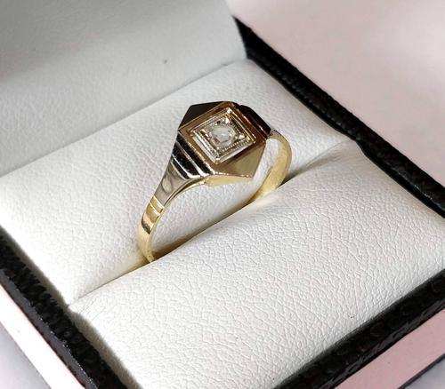 1920s Art Deco Diamond Ring 18ct White Yellow Gold (1 of 8)