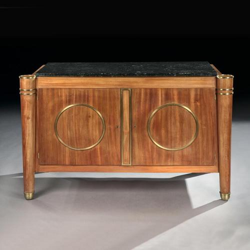 Elegant French Mid Century Modernist Fossil Marble Topped Commode (1 of 10)