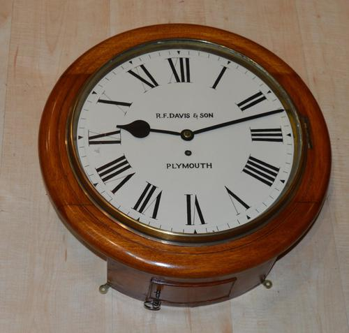 R F Davis Plymouth Fusee Dial Wall Clock (1 of 5)