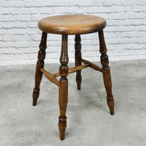 Victorian Pub Stool, Sycamore Seat (1 of 5)