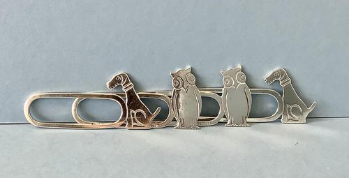 Set of 4 Solid Silver Novelty Napkin Rings (1 of 5)