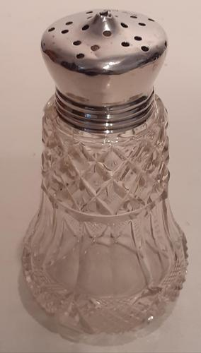 Glass & Silver Topped Sugar Sifter, Hallmarked 1910 (1 of 4)