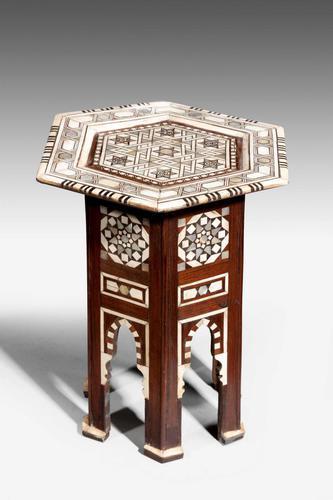 Hexagonal Bone & Hardwood Centre Table (1 of 5)