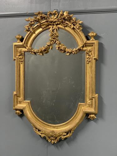 Exceptional Quality French Gilt Bevelled Garland Mirror (1 of 8)