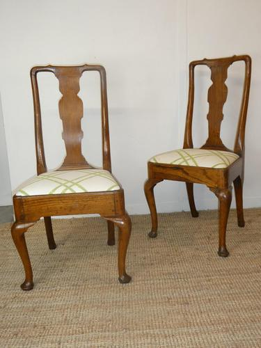 Pair of Early 18th Century Oak Chairs (1 of 7)