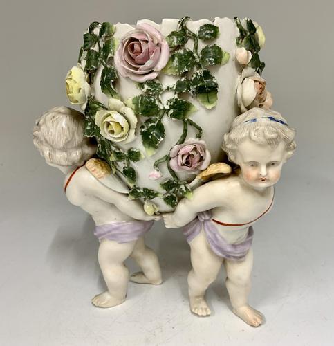 Antique Volkstedt Porcelain Vase c.1875 (1 of 6)