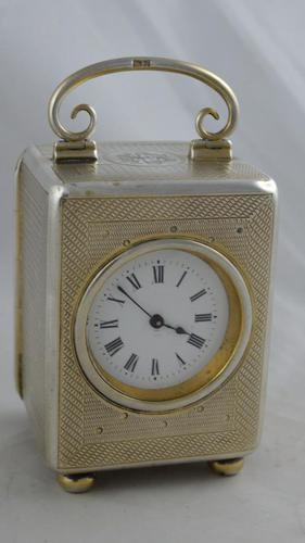 Small Silver Carriage Clock (1 of 5)