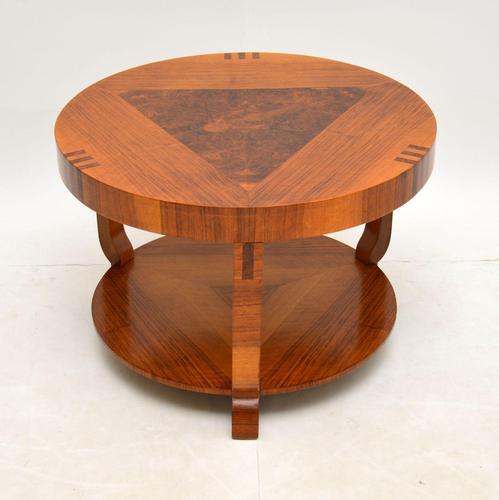 Art Deco Inlaid Walnut Coffee Table (1 of 9)