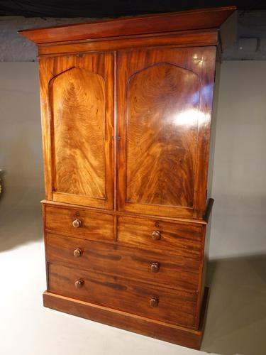 A Finely Figured, Early Victorian, Mahogany Press (1 of 4)