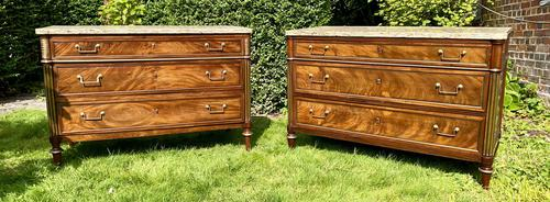 Matched Pair of 18th Century Mahogany Commodes (1 of 11)