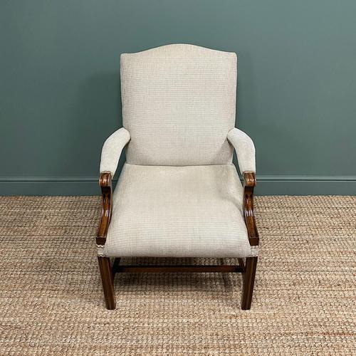 Fine Mahogany Gainsborough Antique Armchair (1 of 5)