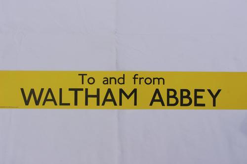 London Transport Slipboard Poster for Waltham Abbey (1 of 1)