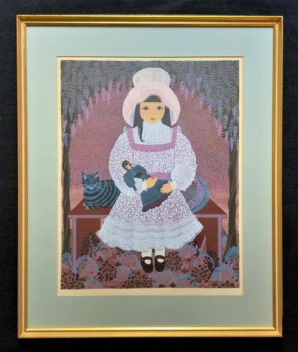 Patricia Barton Signed Artist's Proof Print of a Little Girl With Doll (1 of 12)