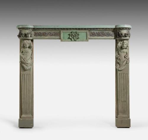 Well Carved 19th Century Pine and Gesso Fire Surround (1 of 9)