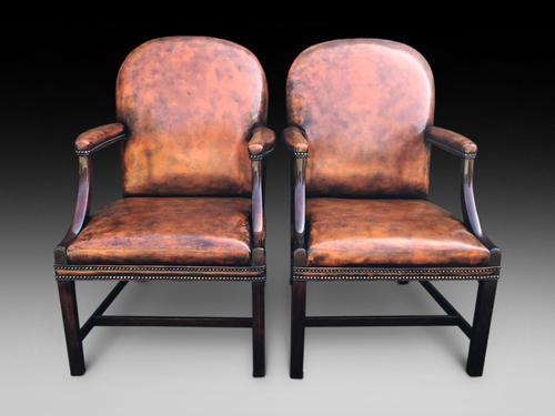 Pair of 20th Century Gainsborough Armchairs (1 of 4)