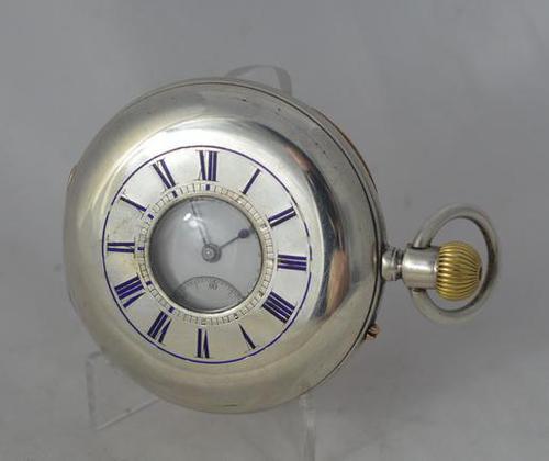 Silver Half Hunter Gents Pocket Watch (1 of 4)