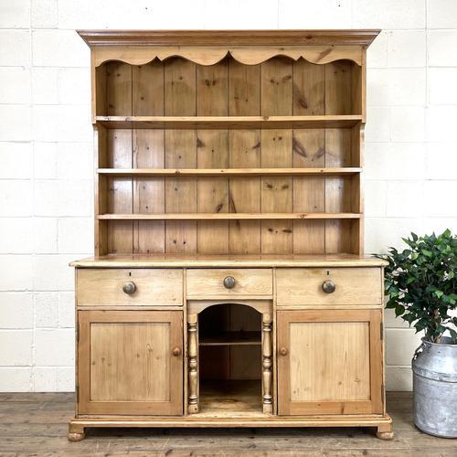 Antique Pine Farmhouse Kitchen Dresser (1 of 10)