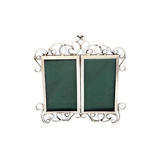 Antique Victorian Sterling Silver Double Photo Frame 1896 (1 of 9)