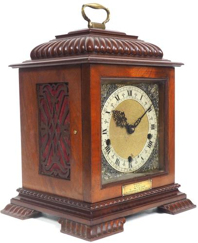 Vintage English Westminster Chime Bracket Clock – Solid Mahogany Musical Mantel Clock (1 of 10)