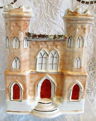 Antique English Victorian Staffordshire Pottery Gothic Castle (1 of 6)