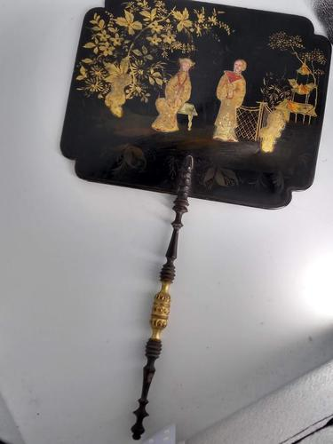 Laquered Chinoiserie Fan (1 of 9)