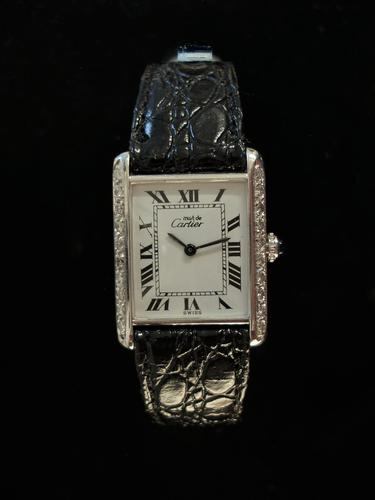 Cartier Diamond Tank Watch (1 of 4)