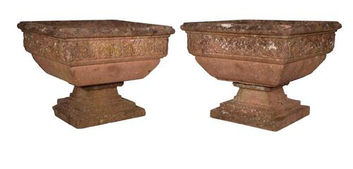 Pair of Cast Stone Urns (1 of 4)
