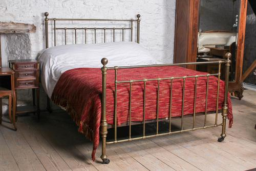 Attractive All Brass Original Victorian King Size Bed (1 of 8)