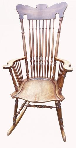 Lovely Quality 19th Century Mahogany Rocking Chair (1 of 4)