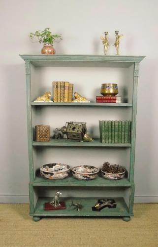 Antique Victorian Painted Bookcase (1 of 8)