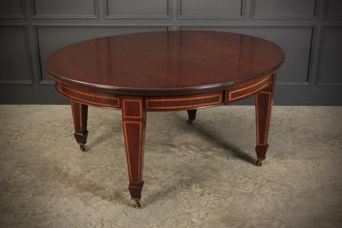 Large Inlaid Mahogany Extending Dining Table (1 of 20)
